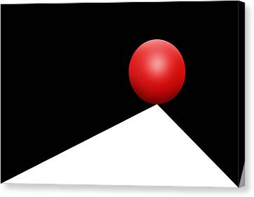 Red Ball 29 Canvas Print by Mike McGlothlen