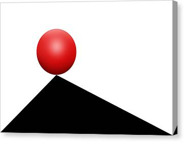 Red Ball 30 Canvas Print by Mike McGlothlen