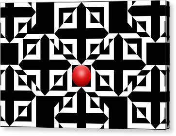 Red Ball 5 Canvas Print by Mike McGlothlen