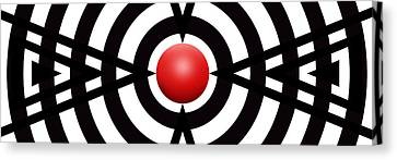 Red Ball 6 Panoramic Canvas Print by Mike McGlothlen