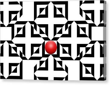 Red Ball 5a  Canvas Print by Mike McGlothlen