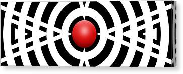 Red Ball 6a Panoramic Canvas Print by Mike McGlothlen