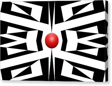 Red Ball 8 Canvas Print by Mike McGlothlen
