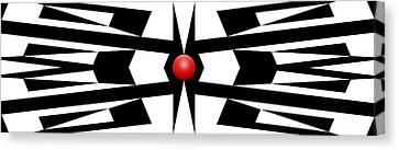 Red Ball 9a Panoramic Canvas Print by Mike McGlothlen