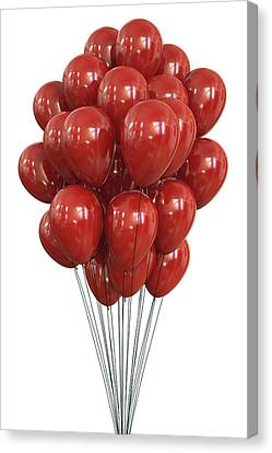 Red Balloons Canvas Print by Ktsdesign