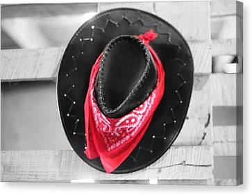 Red Bandana Black Hat Canvas Print by Dan Sproul