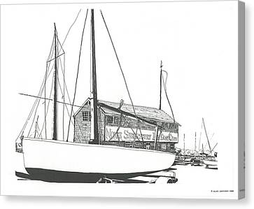 Red Bank Boat Club Canvas Print