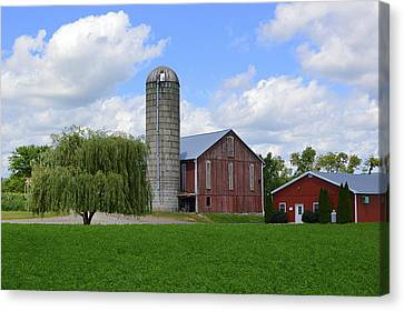 Red Barn #1 - Mifflinburg Pa Canvas Print