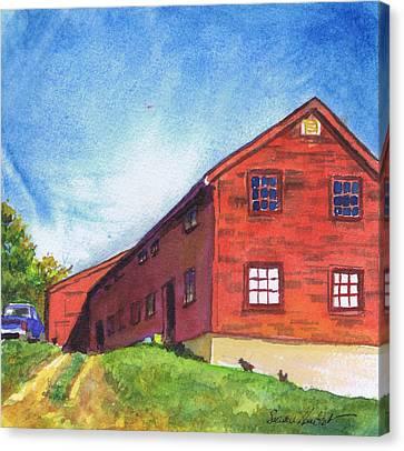 Red Barn Apple Farm New Hampshire Canvas Print
