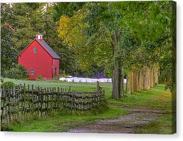 Red Barn At Appleton Canvas Print by David Stone