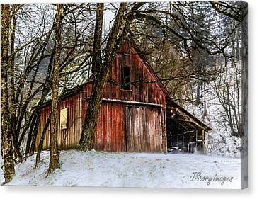 Red Barn Canvas Print by Jimmy Story