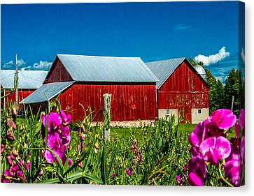 Canvas Print - Red Barn On Riggsville Road by Bill Gallagher