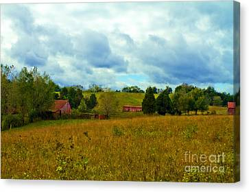 Red Barn Six Canvas Print