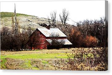 Red Barn Canvas Print by Steve McKinzie