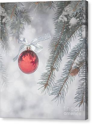 Red Bauble Canvas Print
