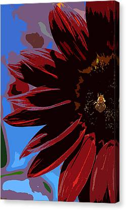 Red Be There Cut Out Canvas Print by Scott Campbell
