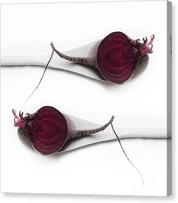 Red Beets Canvas Print by Priska Wettstein