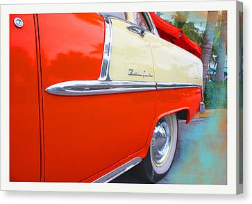 1950s Fashion Canvas Print - Red Bell by Doug Walker