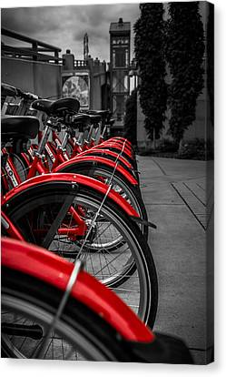 Red Bicycles Canvas Print