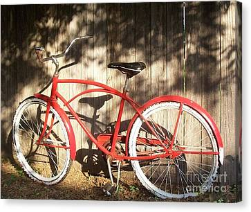 Red Bike Canvas Print