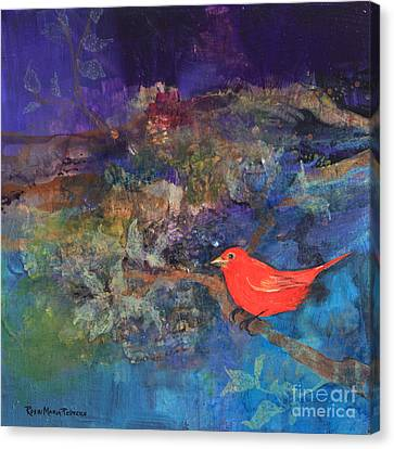 Red Bird Canvas Print by Robin Maria Pedrero