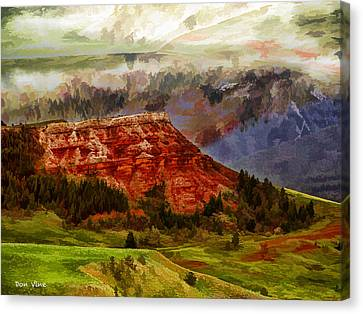 Red Bluff Fantasy Canvas Print