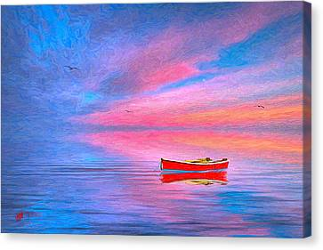 Cape Cod Canvas Print - Red Boat by Michael Petrizzo