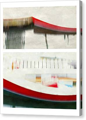 Red Boat At The Dock Canvas Print by Patricia Strand