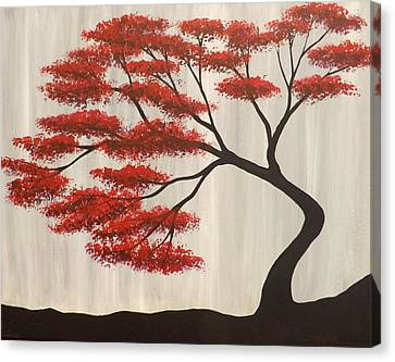 Red Bonsai Canvas Print