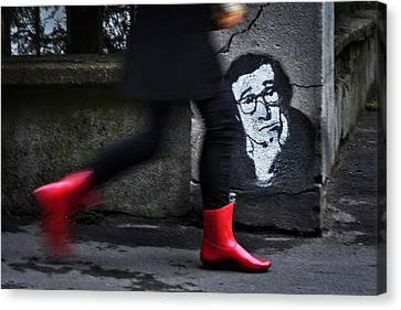 Red Boots Canvas Print by Dragan M. Babovic