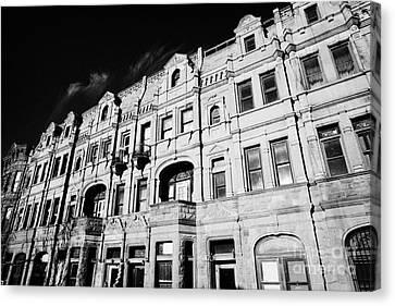 Manhaten Canvas Print - Red Brick Apartment Building Upper New York City by Joe Fox