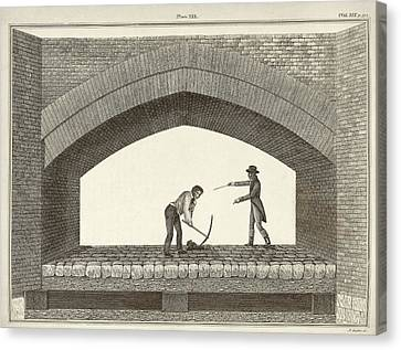 Red Bridge Excavations Canvas Print by Middle Temple Library