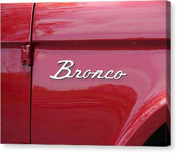 Red Bronco I Canvas Print