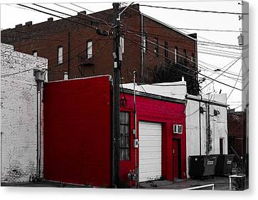 Red Building Canvas Print by Nathan Hillis