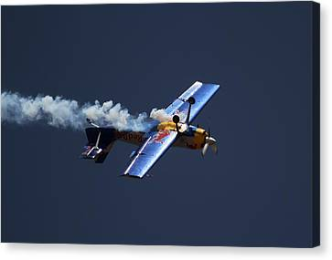 Red Bull - Inverted Flight Canvas Print by Ramabhadran Thirupattur