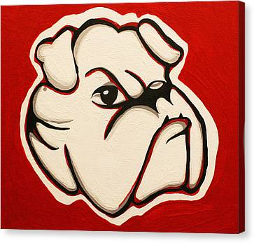Red Bulldawg Canvas Print by Brandy Nicole Neal