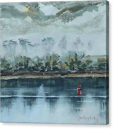 Canvas Print featuring the painting Red Buoy by Jo Appleby