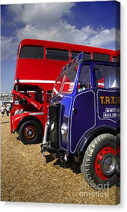 Red Bus Blue Lorry Canvas Print by Rob Hawkins