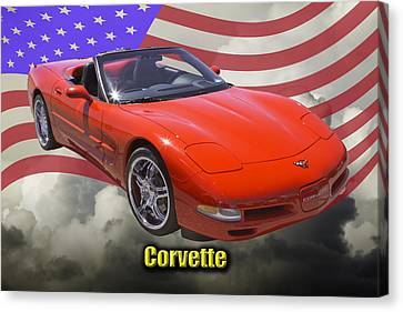Red C5 Corvette Convertible Muscle Car Canvas Print by Keith Webber Jr
