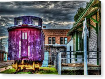 Red Caboose Canvas Print by Aliceann Carlton