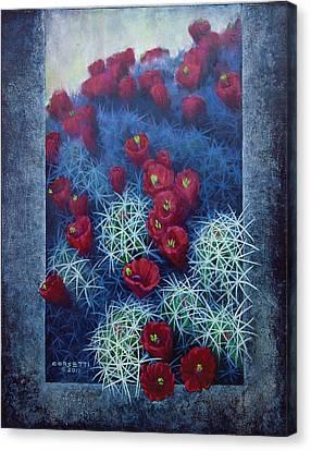 Claret Canvas Print - Red Cactus by Rob Corsetti