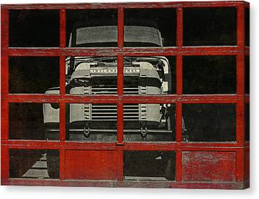 Red Cage Canvas Print by Jeff  Gettis