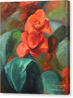 Red Canna Canvas Print by Art By Tolpo Collection