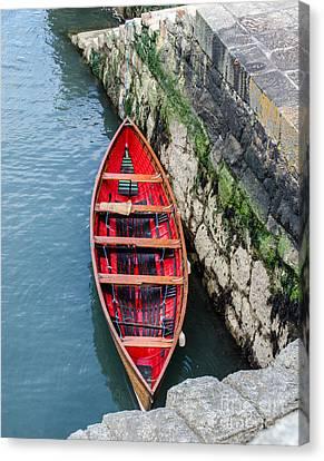 Red Canoe Canvas Print