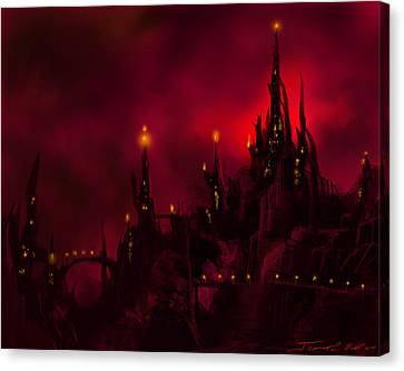 Red Castle Canvas Print by James Christopher Hill