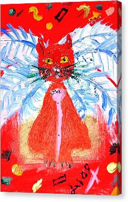 Red Cat I Canvas Print