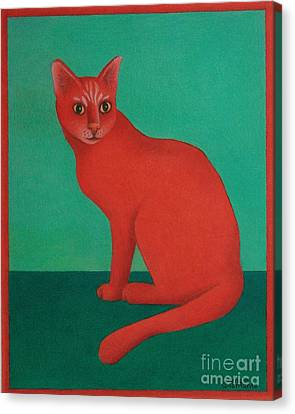 Red Cat Canvas Print by Pamela Clements