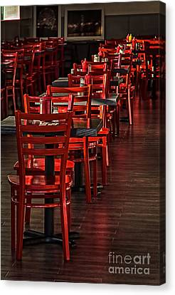 Canvas Print featuring the photograph Red Chairs by Vicki DeVico