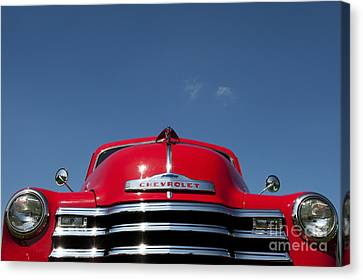 Red Chevrolet 3100 1953 Pickup  Canvas Print by Tim Gainey