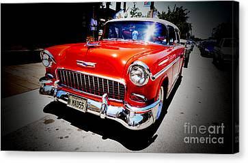 Red Chevrolet Bel Air Canvas Print by Nina Prommer